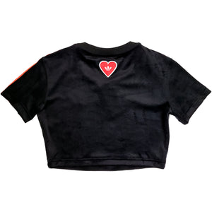 Adidas Black V-Day Cropped T-Shirt