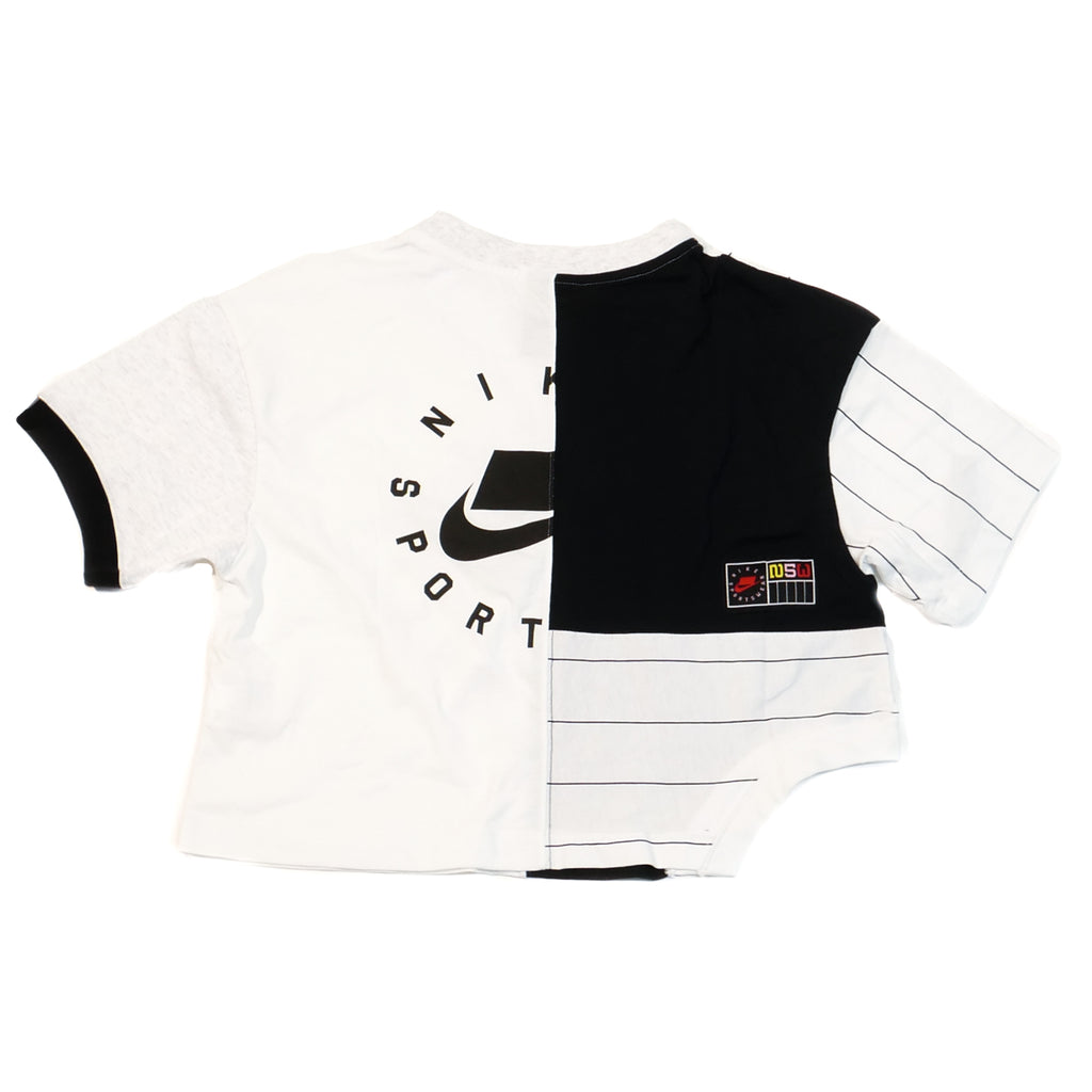 Nike Women's NSW Patchwork Crop T-Shirt White/Black