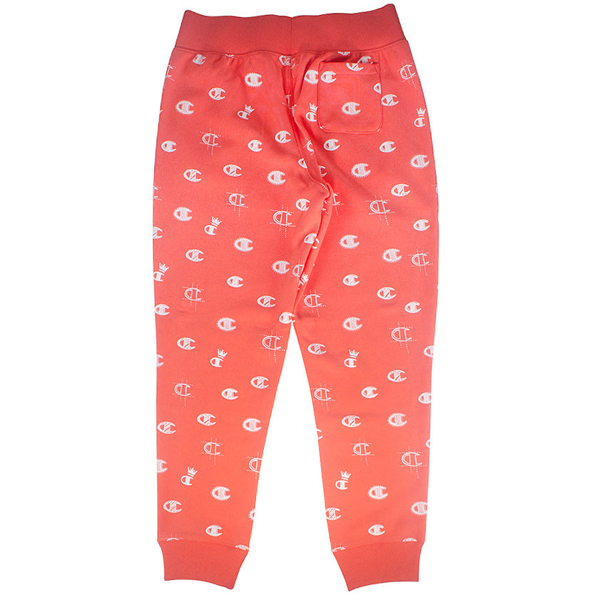 Champion Women's Reverse Weave Pink 'C's All Over' Jogger