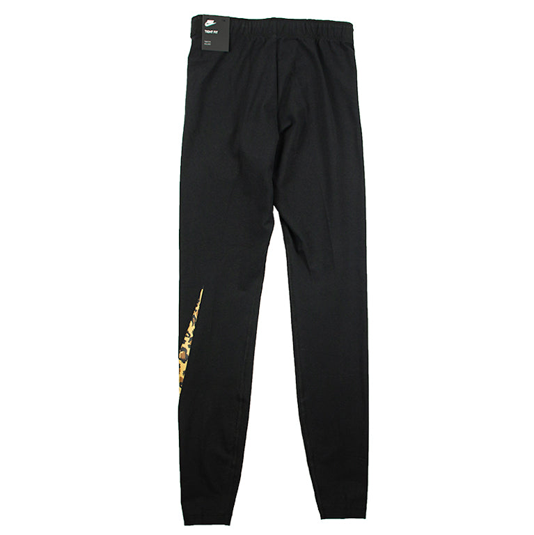 Nike Women's Sportswear Black Animal Leggings