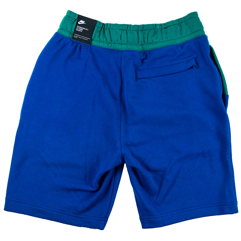 Nike Men's Large Swoosh Blue/Green Shorts