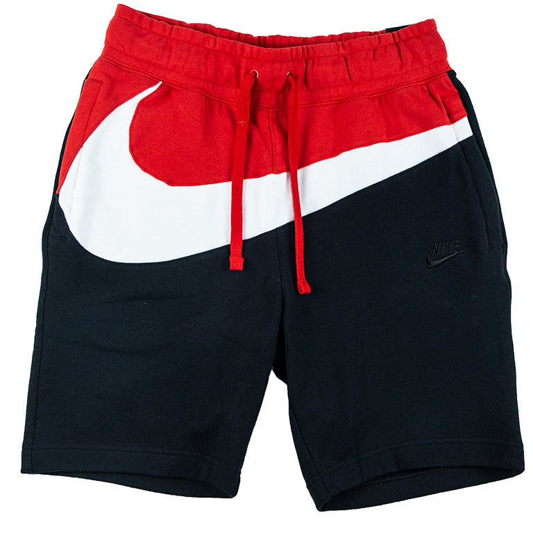 Nike Men's Large Swoosh Black/Red Shorts