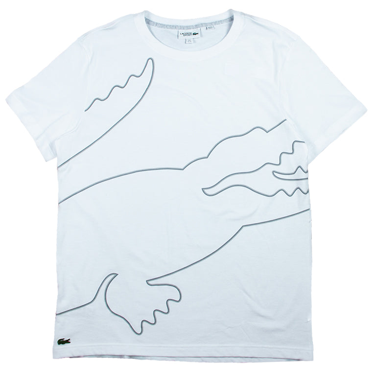 Lacoste White Crew Neck Tech Jersey T-shirt
