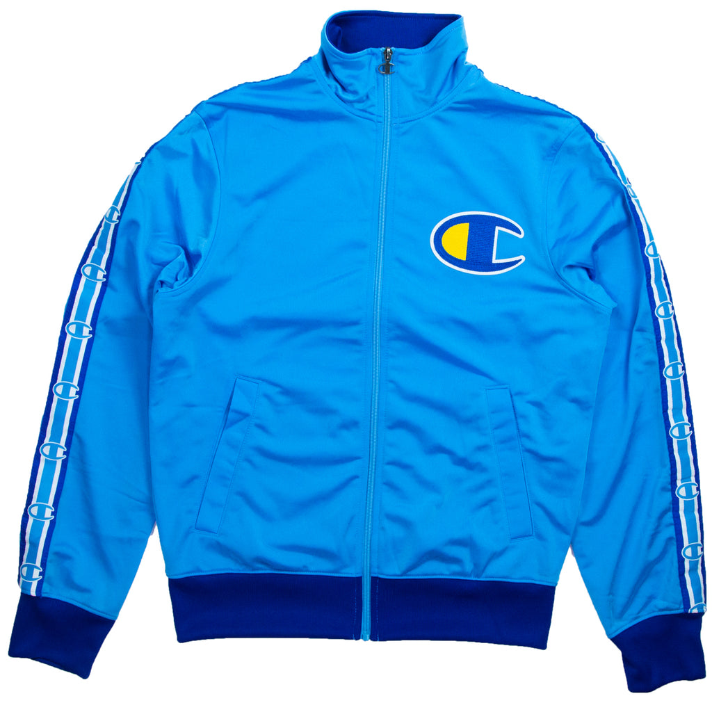 Champion Men's Blue Side Tape Track Jacket