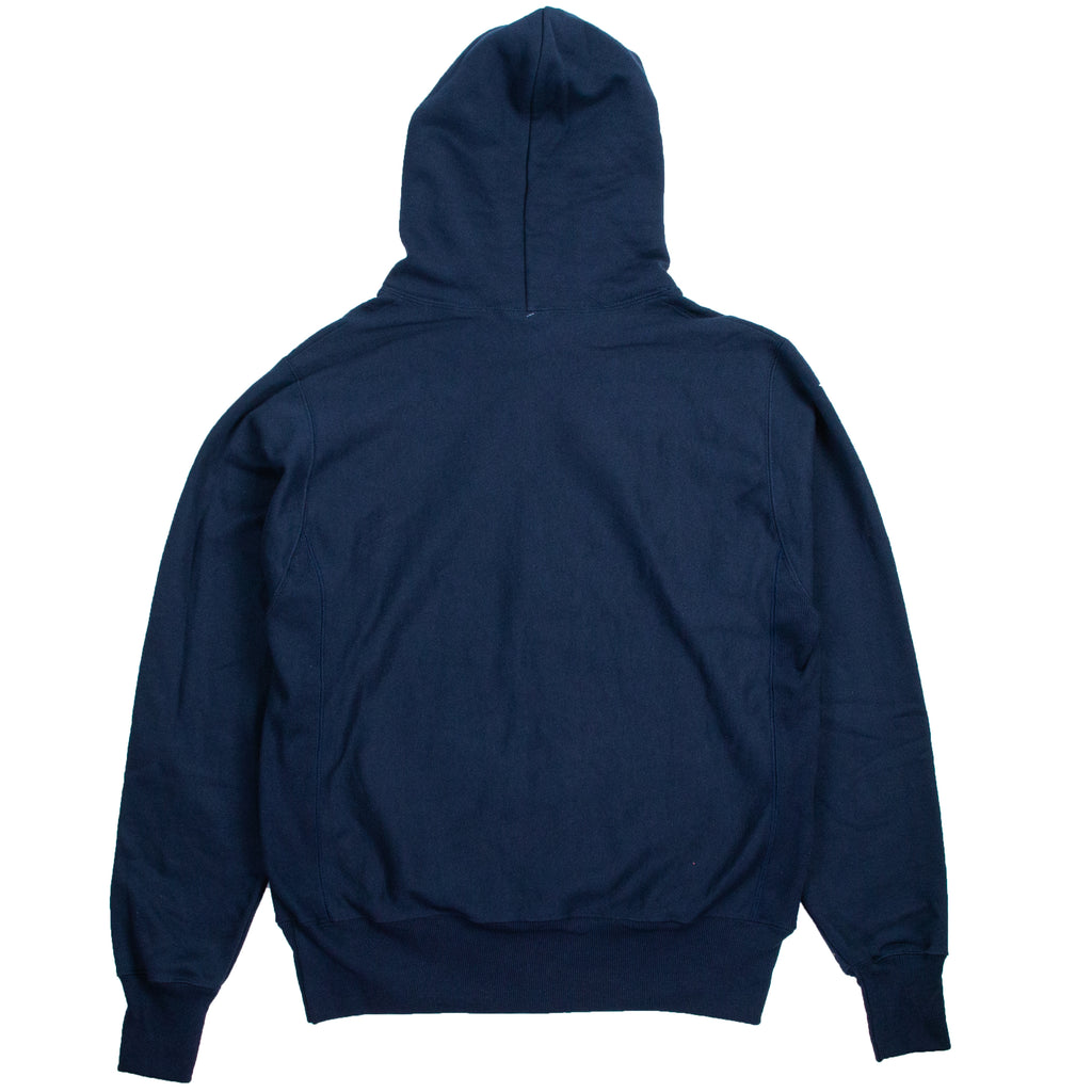Champion Reverse Weave Navy Full-Zip Hoodie