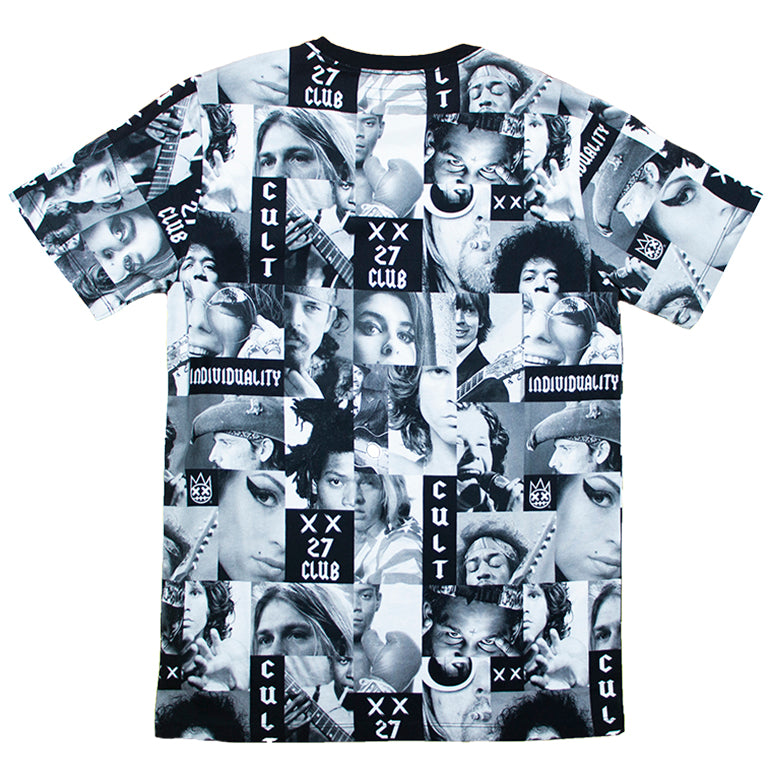 Cult Of Individuality Black & Grey 27 Club T-Shirt