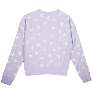 Champion Women's Reverse Weave Allover Purple Crewneck