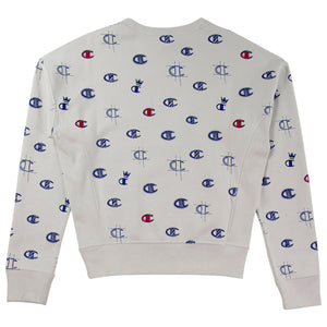 Champion Women's Reverse Weave Allover White Crewneck
