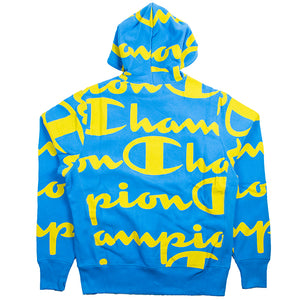 Champion Reverse Weave Blue Pullover Hoodie