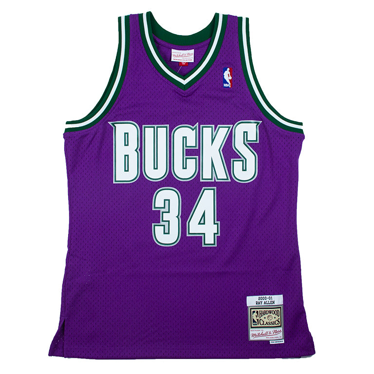 cheap for discount c60a1 38164 Mitchell & Ness Swingman Road Jersey Milwaukee Bucks Ray Allen