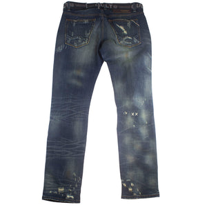 Cult of Individuality Rebel Straight Stretch Denim Jeans w/Belt