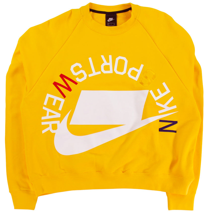 Nike Sportswear NSW Yellow French Terry Crew