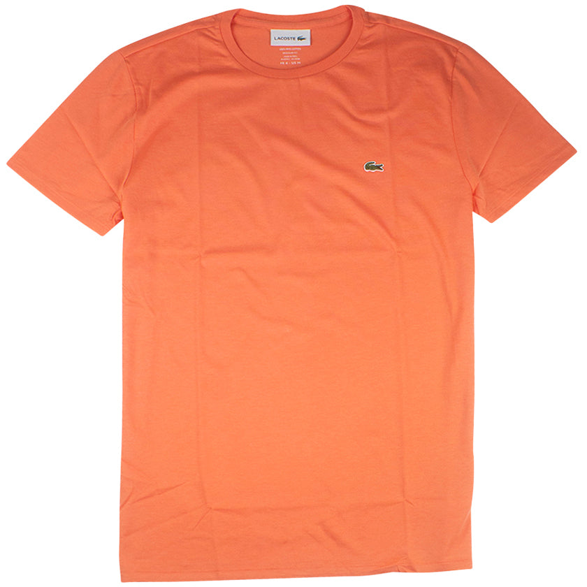 Lacoste Orange Pima Cotton Jersey T-Shirt