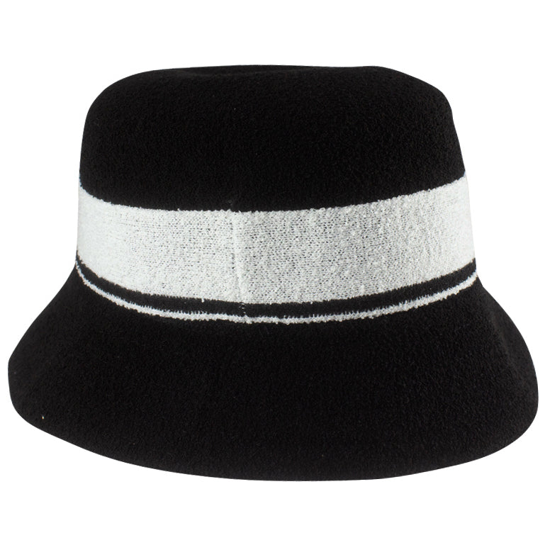 Kangol Bermuda Stripe Bucket Black