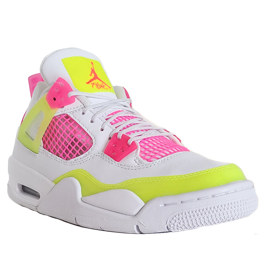 Air Jordan Girls 4 Retro (GS) 'Lemon Venom'