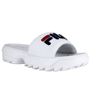 Fila Women's White Disruptor Bold Slide