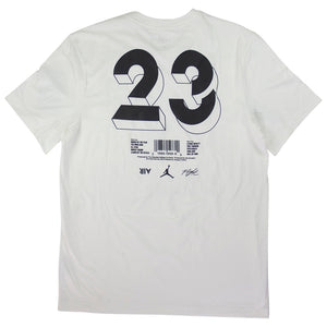 Air Jordan M J Legacy AJ4 White T-Shirt