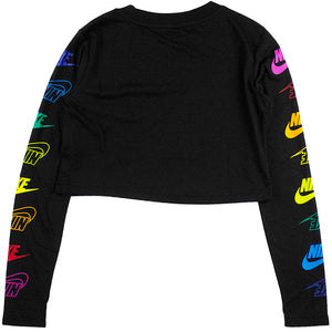 Nike Sportswear Women's Black Long-Sleeve T-Shirt