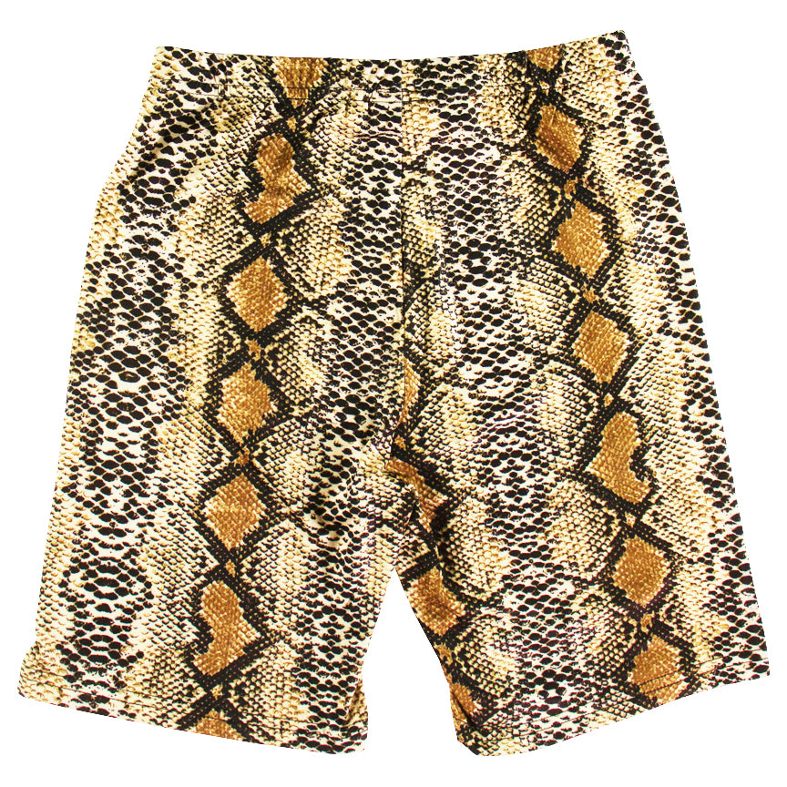 Addictive Bike Shorts Brown Snakeskin