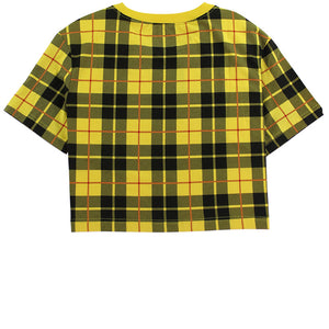 Nike Sportswear Women's Cropped Yellow T-Shirt