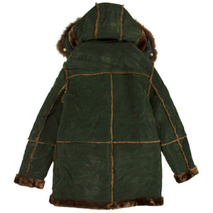 Jordan Craig Denali Shearling Army Green Coat
