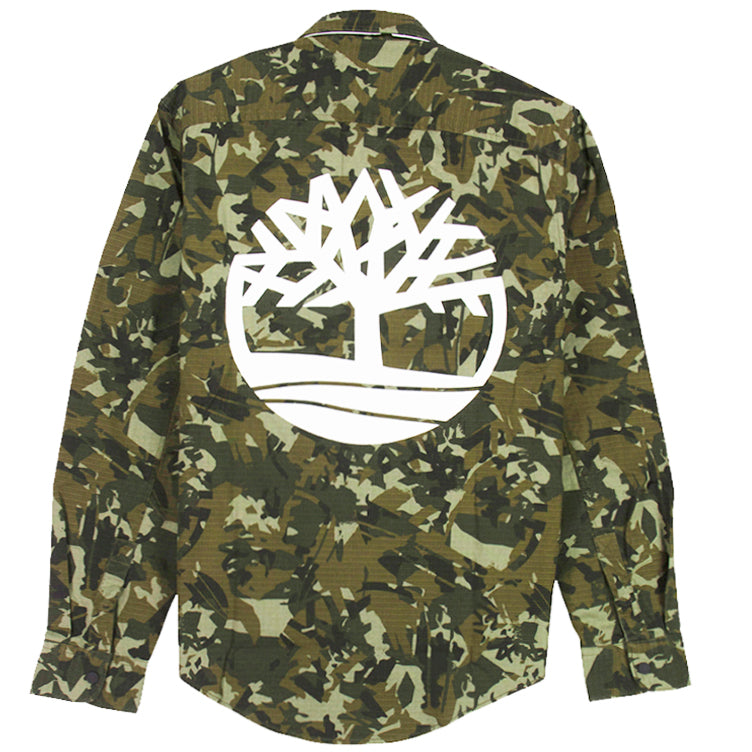Timberland Camo Snap-Button Shirt