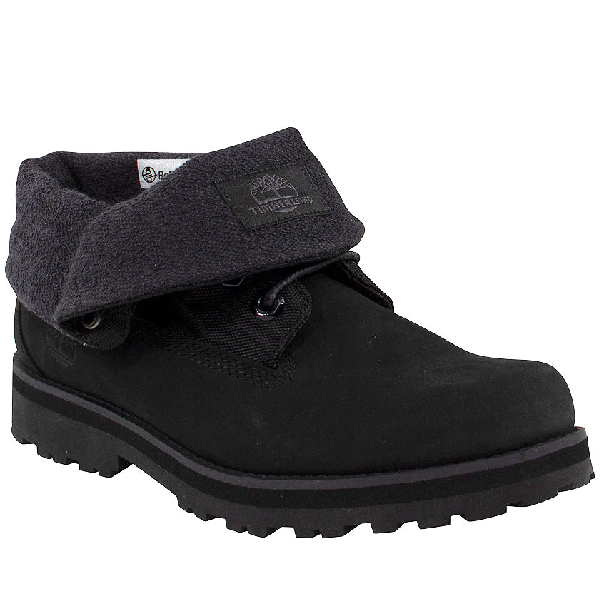 Timberland Junior Courma Kid Roll Top Black Boots