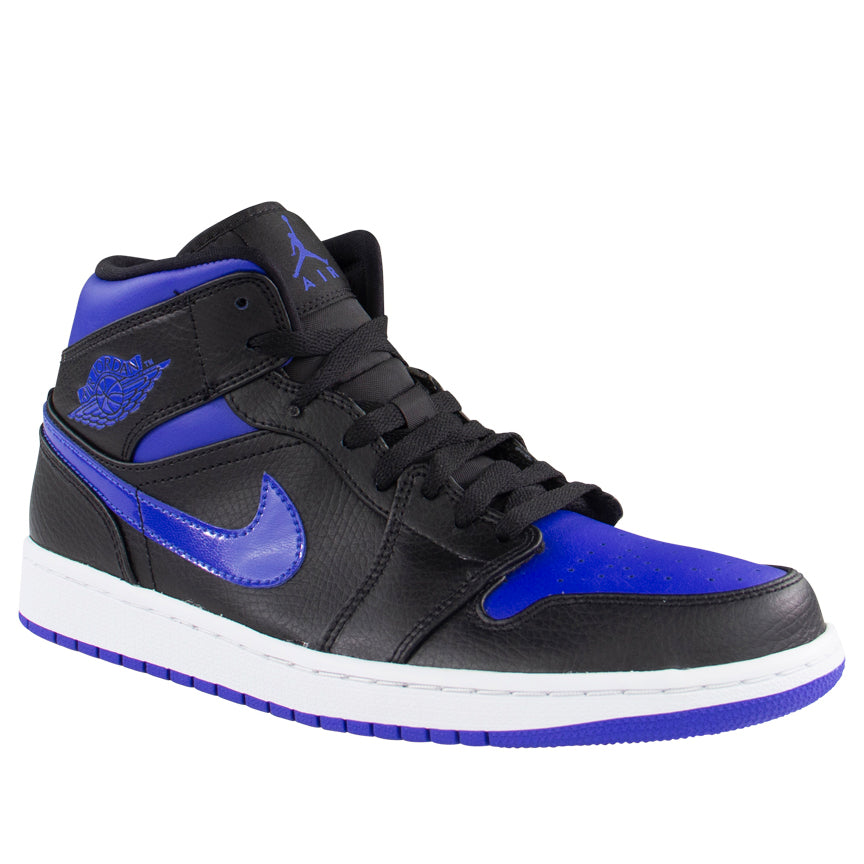 Air Jordan 1 Mid (GS) 'Black Hyper Blue'