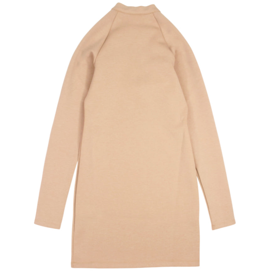 Nike Sportswear Women's Long-Sleeve Beige Dress