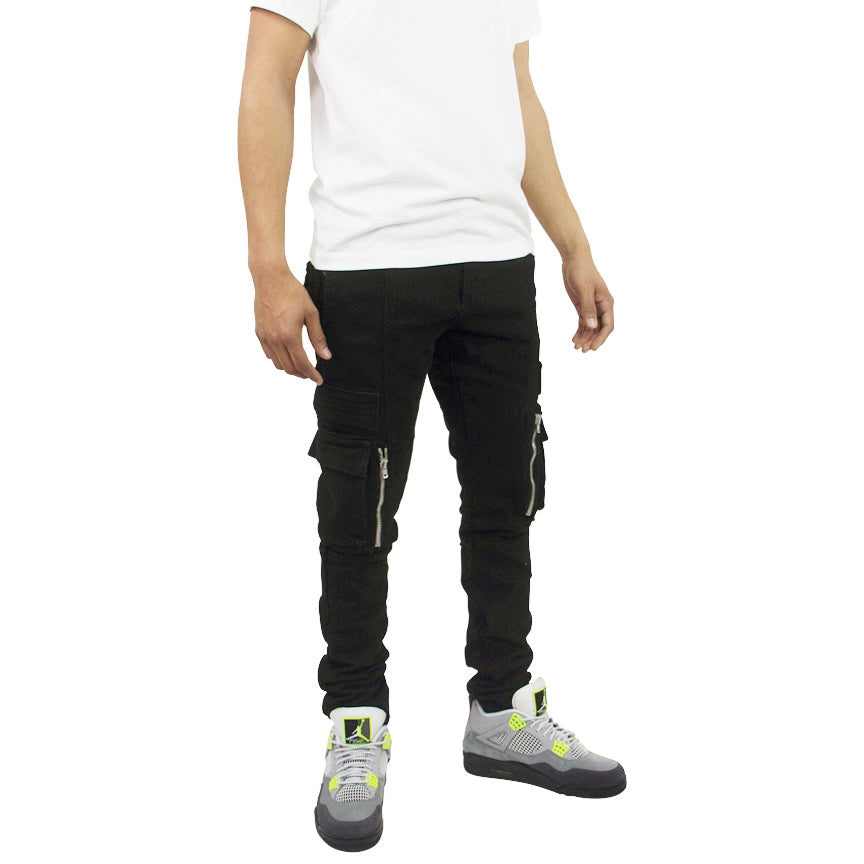 Embellish Windler Black Cargo Jeans