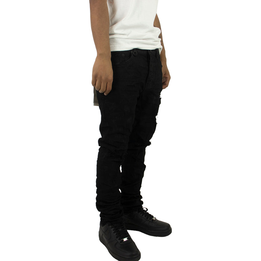 Purple Brand Black Oil Spill Denim Jeans