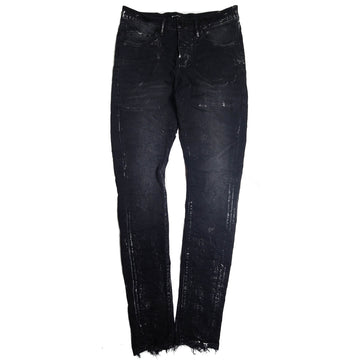 Purple Brand Black Wash Metalic Silver Slim Fit Jeans