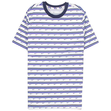 Nike Sportswear Blue Swoosh & Stripes T-Shirt