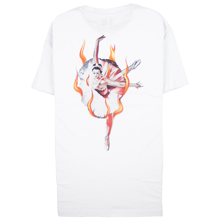 Lifted Anchors Ballerina Graphic White T-Shirt