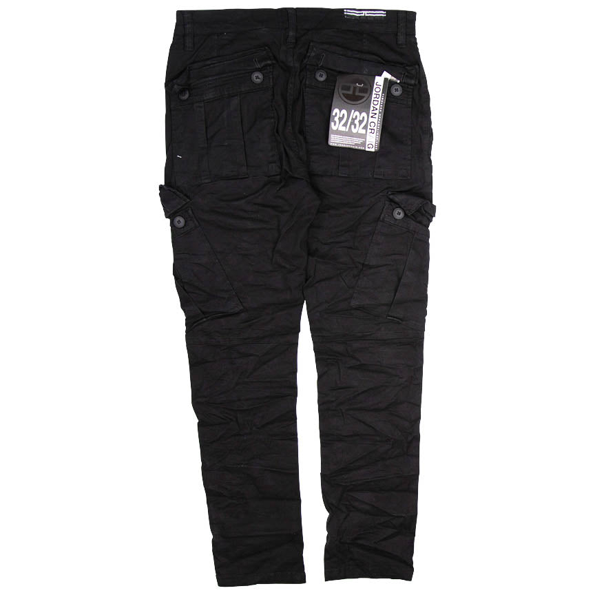 Jordan Craig Sean - Stacked Cargo Black Pants