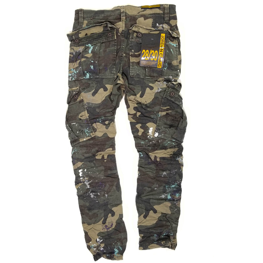 Jordan Craig Sean - Highland Stacked Cargo Pants (Woodland)