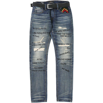 Cult Of Individuality Marley Rocker Slim Belted Jeans