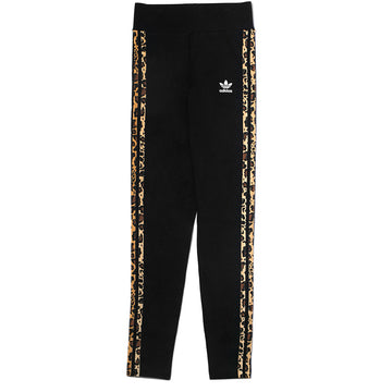 Adidas Originals Women's Leopard Trim Leggings 'Black'