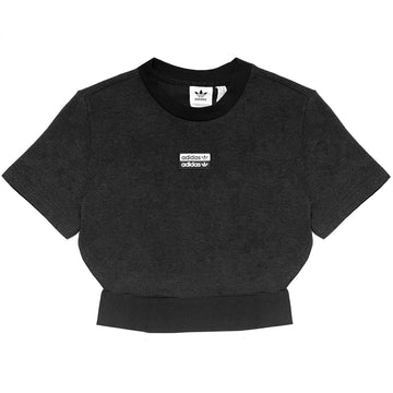 Adidas Women's R.Y.V Black Crop Top