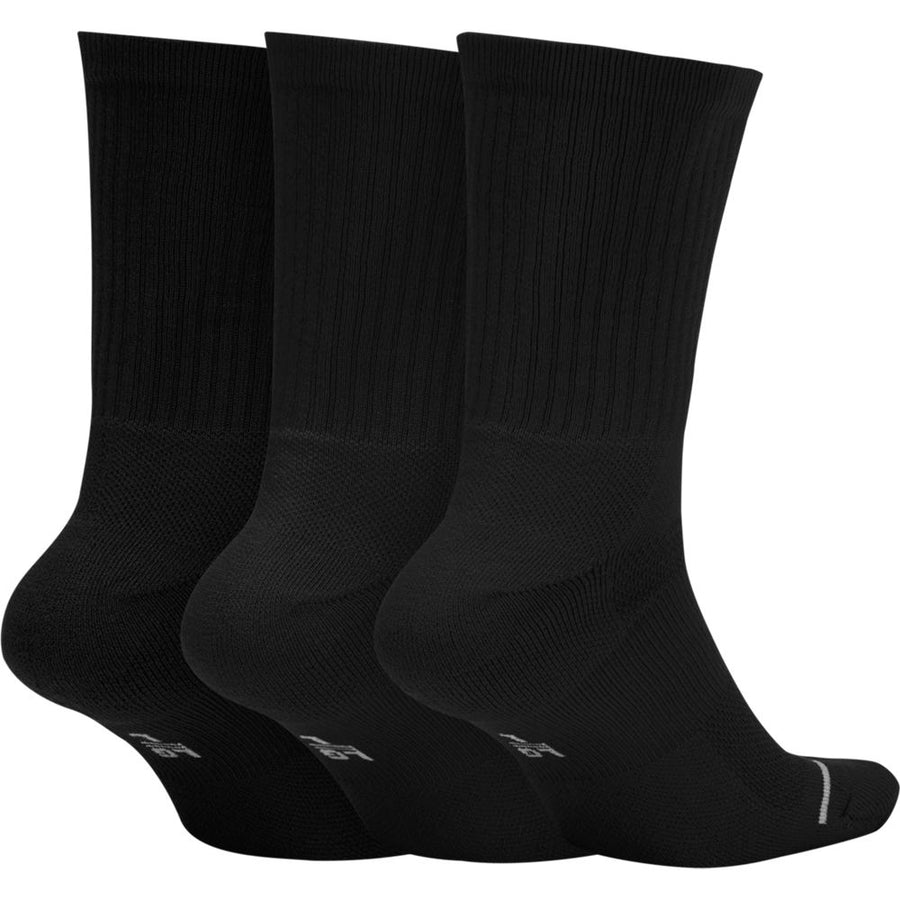 Air Jordan Everyday Black Crew Socks 3Pk