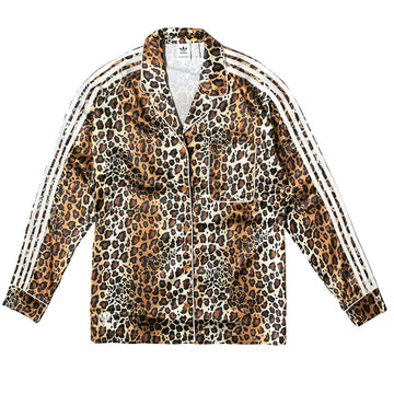 Adidas Women's Leopard Print Satin Top