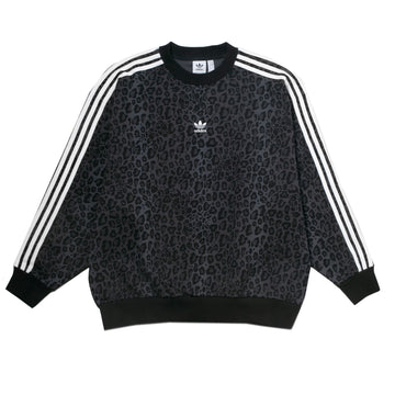 Adidas Originals Women's Leopard Print Crew 'Black'