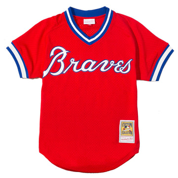 Mitchell & Ness Mesh BP Jersey Atlanta Braves