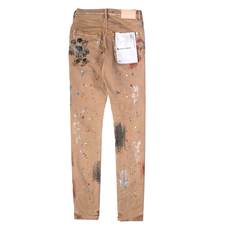 Purple Brand Sandstone Paint Splatter Jeans