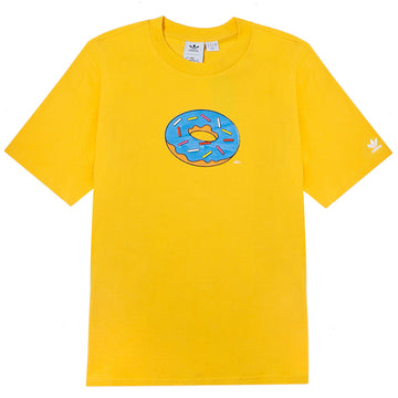 Adidas Simpson's 'Doughnut Hole' Yellow T-Shirt