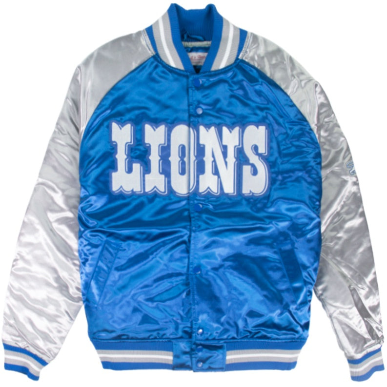 Mitchell & Ness NFL Tough Season Satin Jacket Detroit Lions