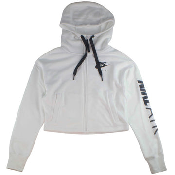 Nike Air Women's Cropped Fleece White Hoodie