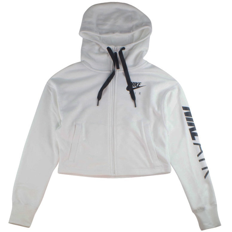 Hoodie Air Women's Cropped White Nike Fleece 8wyvPmn0ON