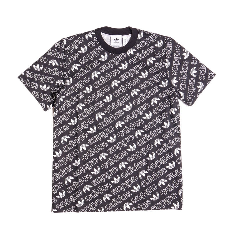 Adidas Men's Black Monogram T-Shirt