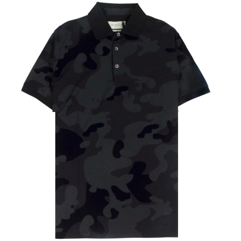 Inimigo Camuflated Black Polo